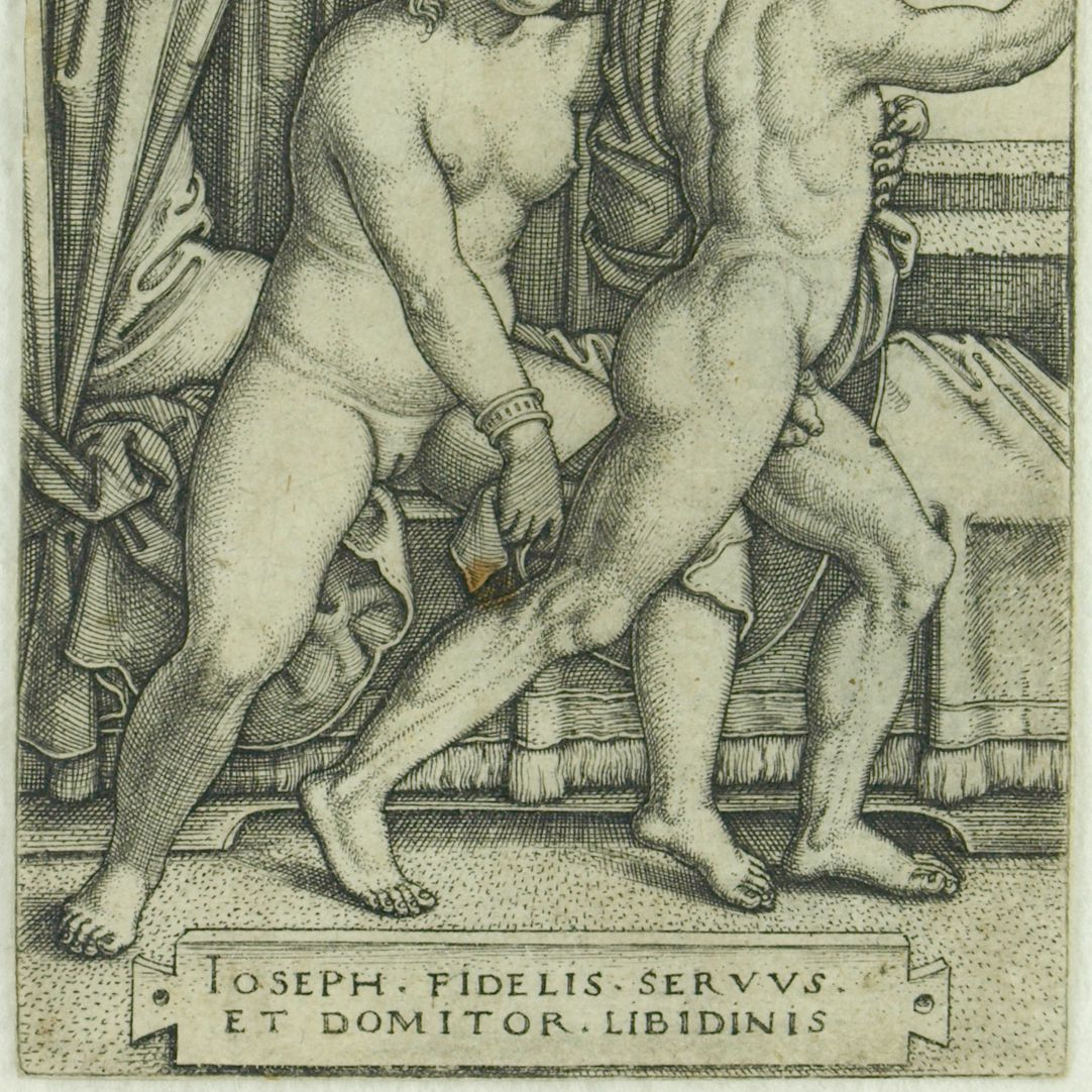 Joseph and Potiphar´s wife (Joseph the Chaste) Section from the lower part of the picture
