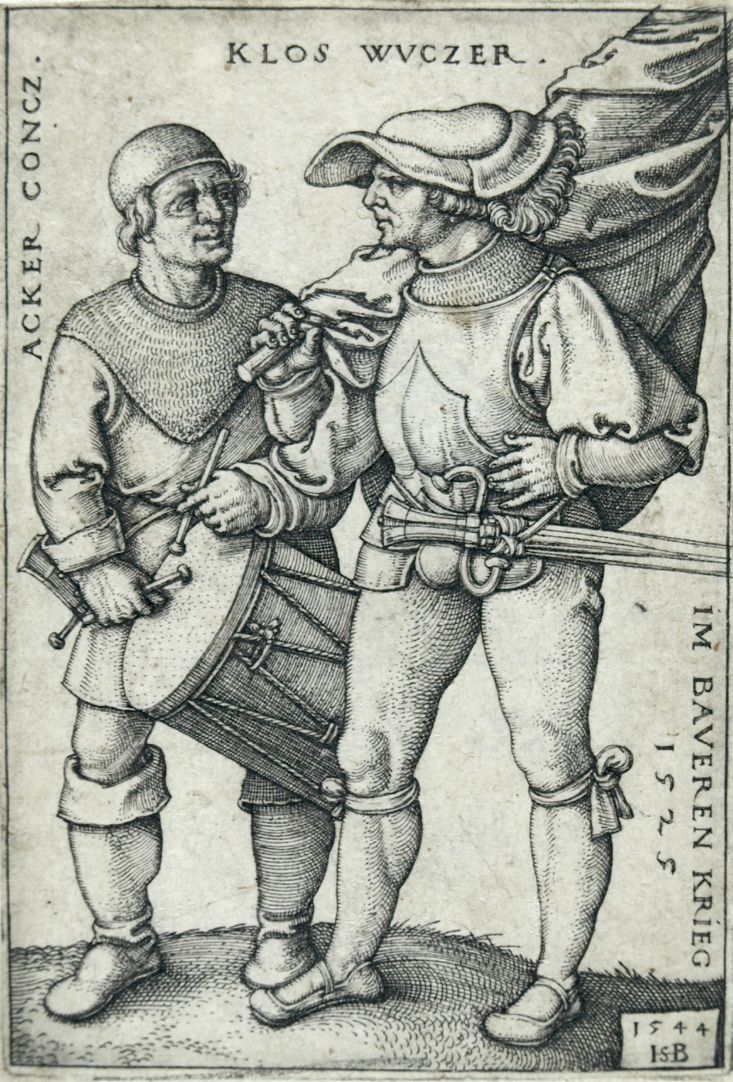 Ensign and drummer in the peasants' war 1525
