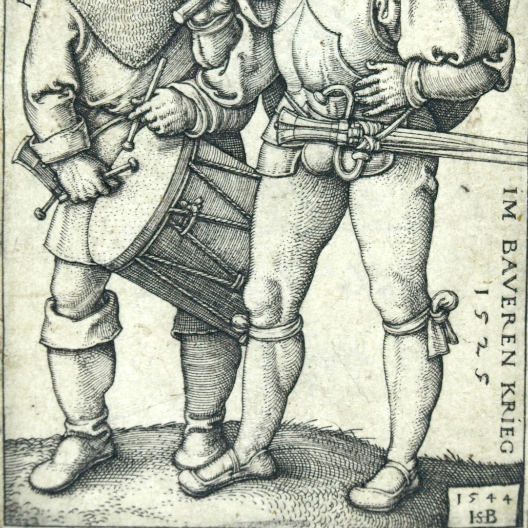 Ensign and drummer in the peasants' war 1525 Lower half of the picture