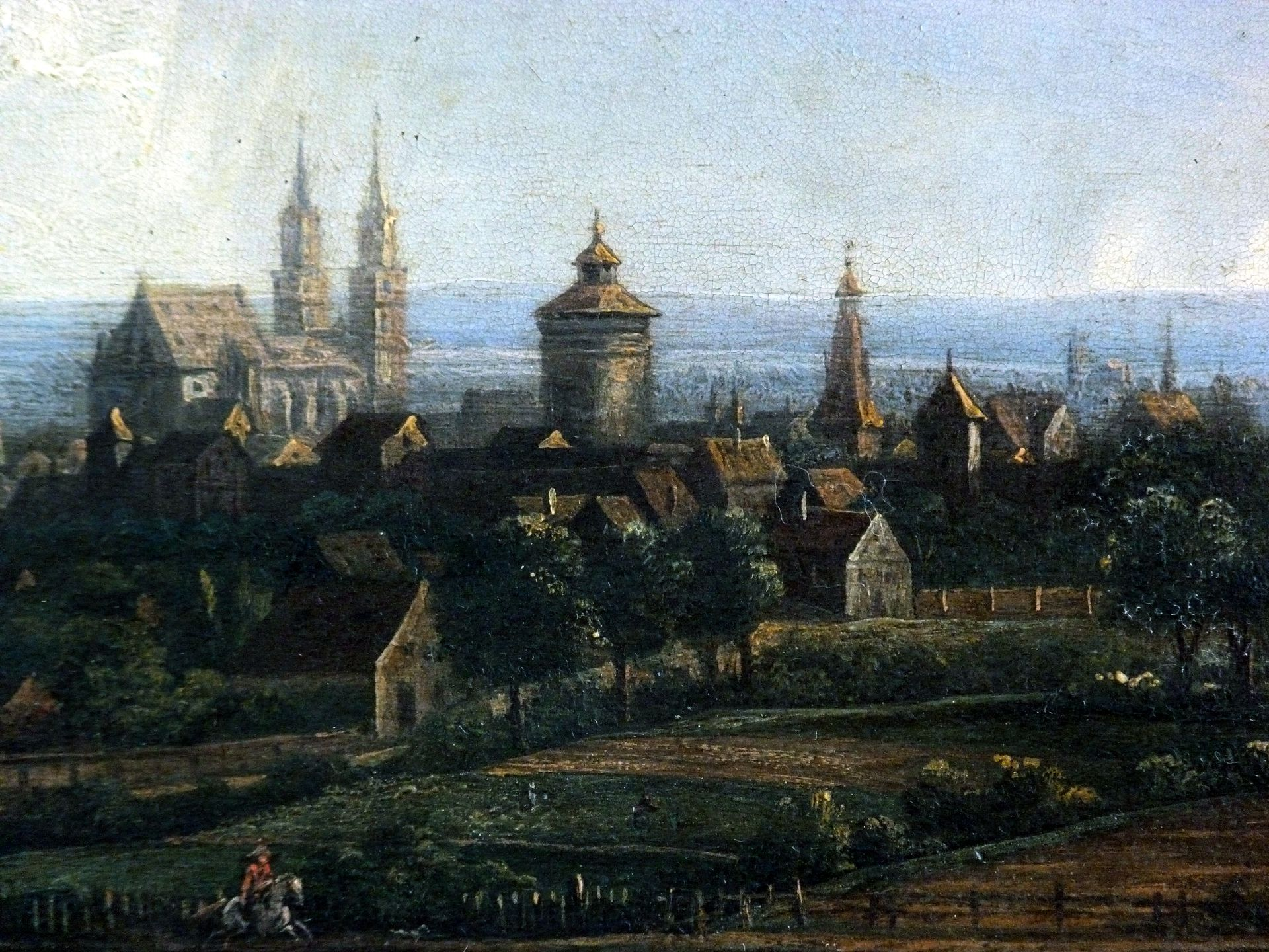 View of the City from the north-east Detail with St. Lorenz-Church