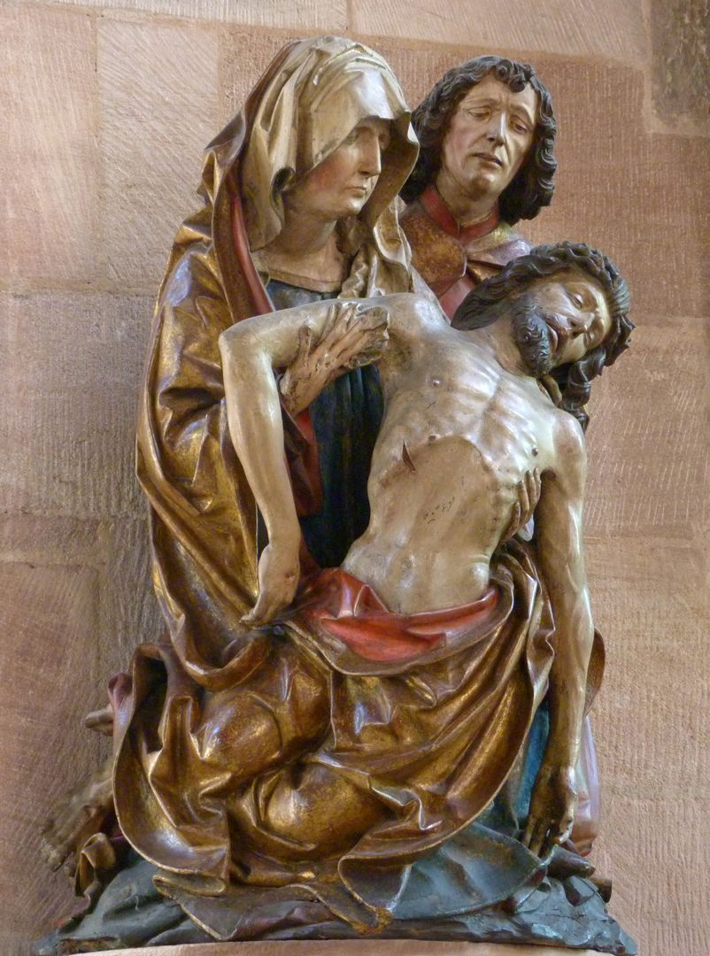 Great Pietà side view from the left