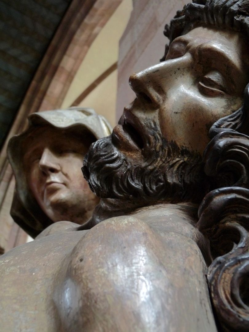 Great Pietà Head of Jesus with head of Mary