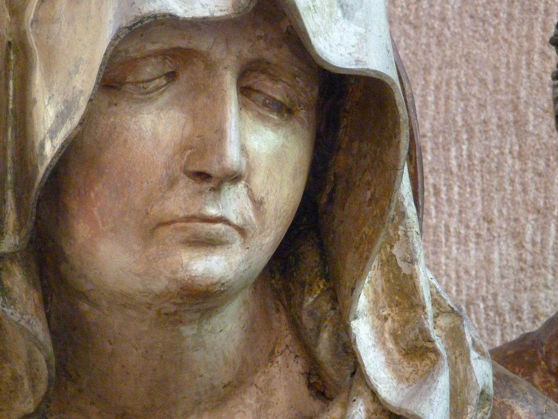 Great Pietà Mary, head