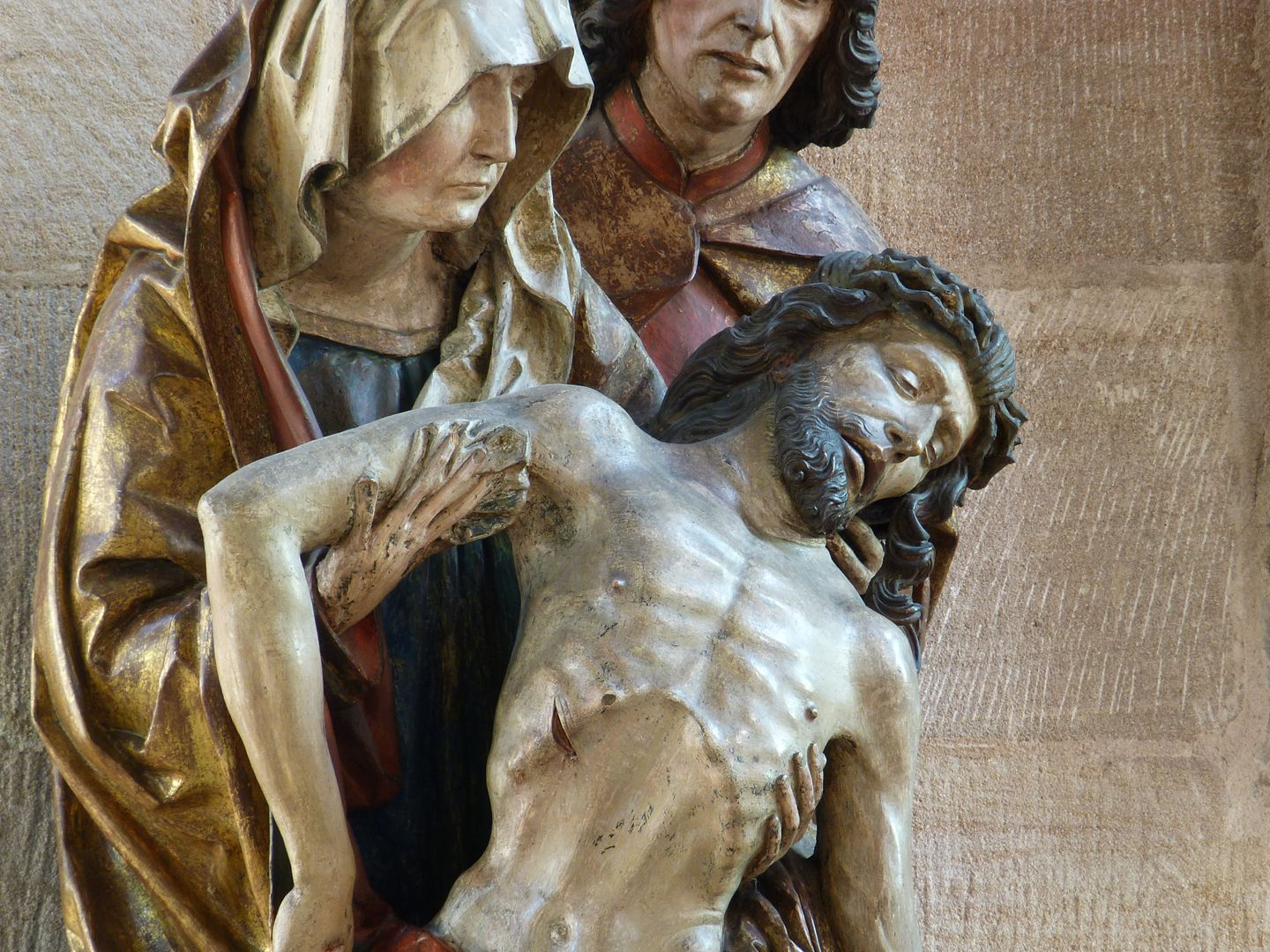 Great Pietà Mary holds the slumped body of Jesus