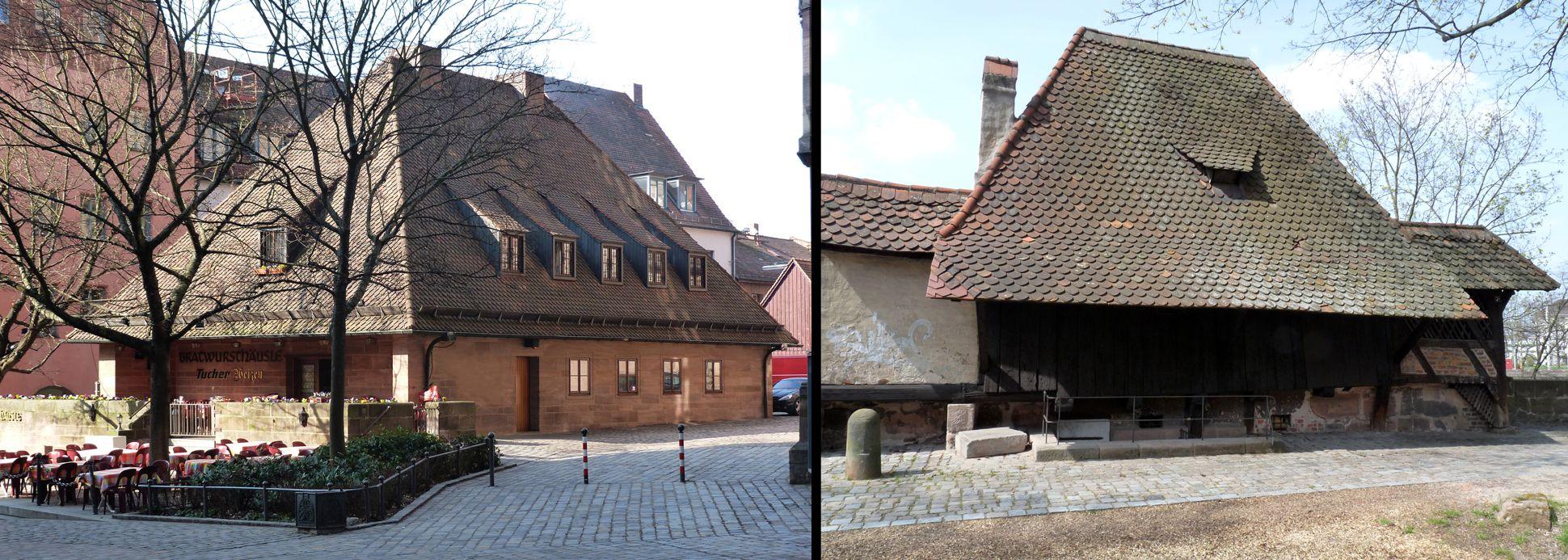 Bratwursthäusle Comparison of Bratwursthäusle and Grabenturm tower of the15./16.th c.