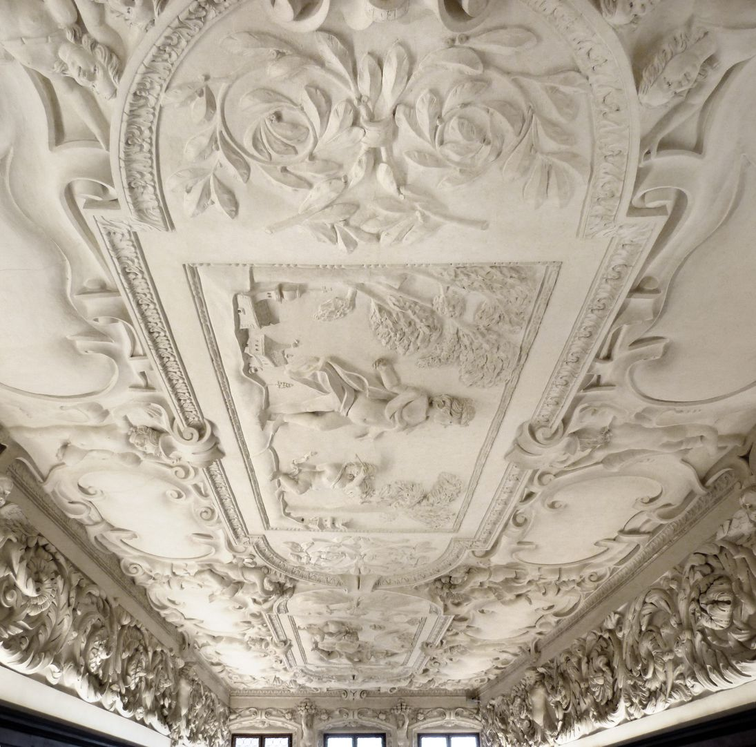 Stuccoed ceiling in the Fembo house Part of the ceiling towards the window front