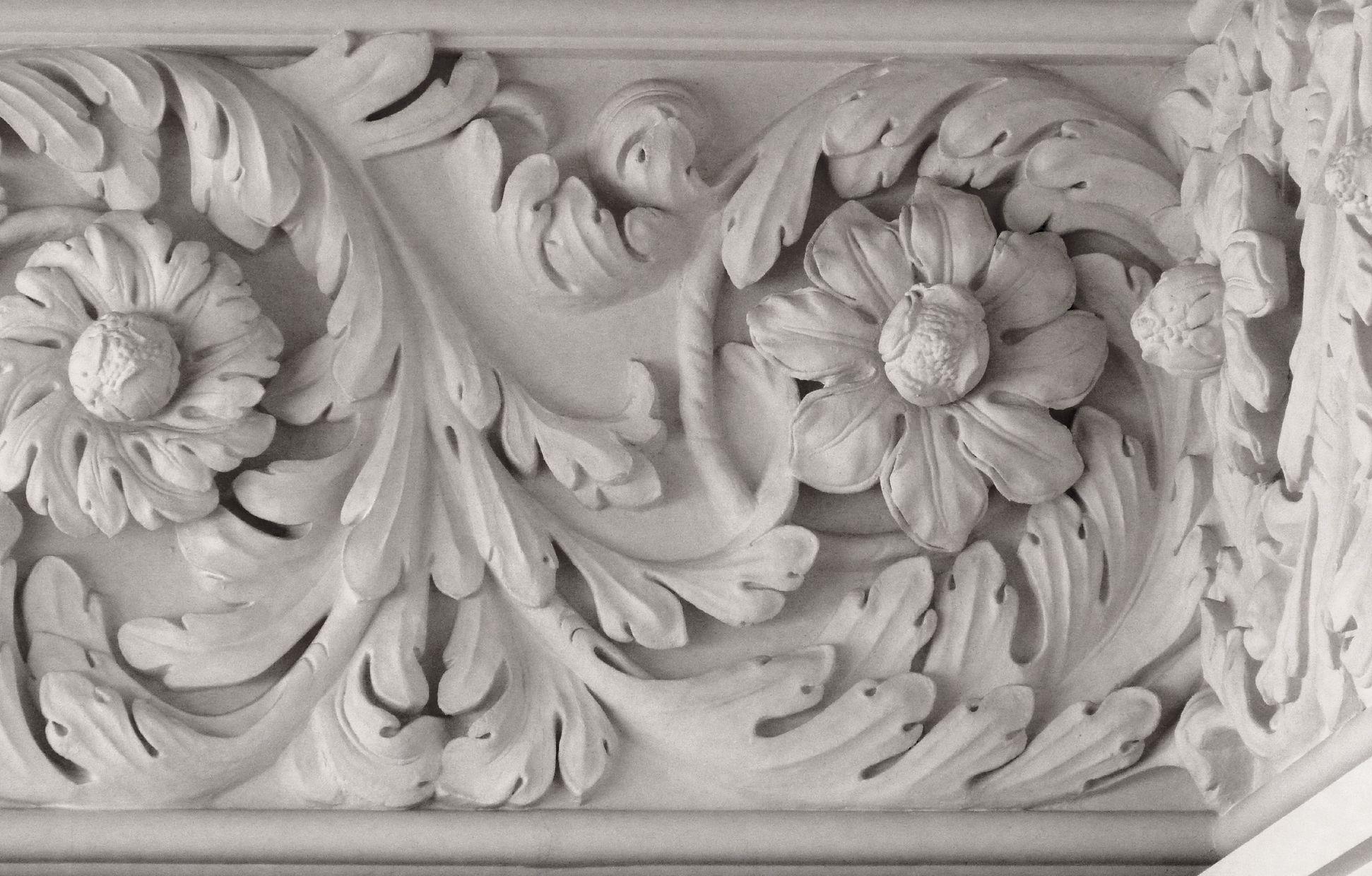 Brentano Hall Acanthus cornice