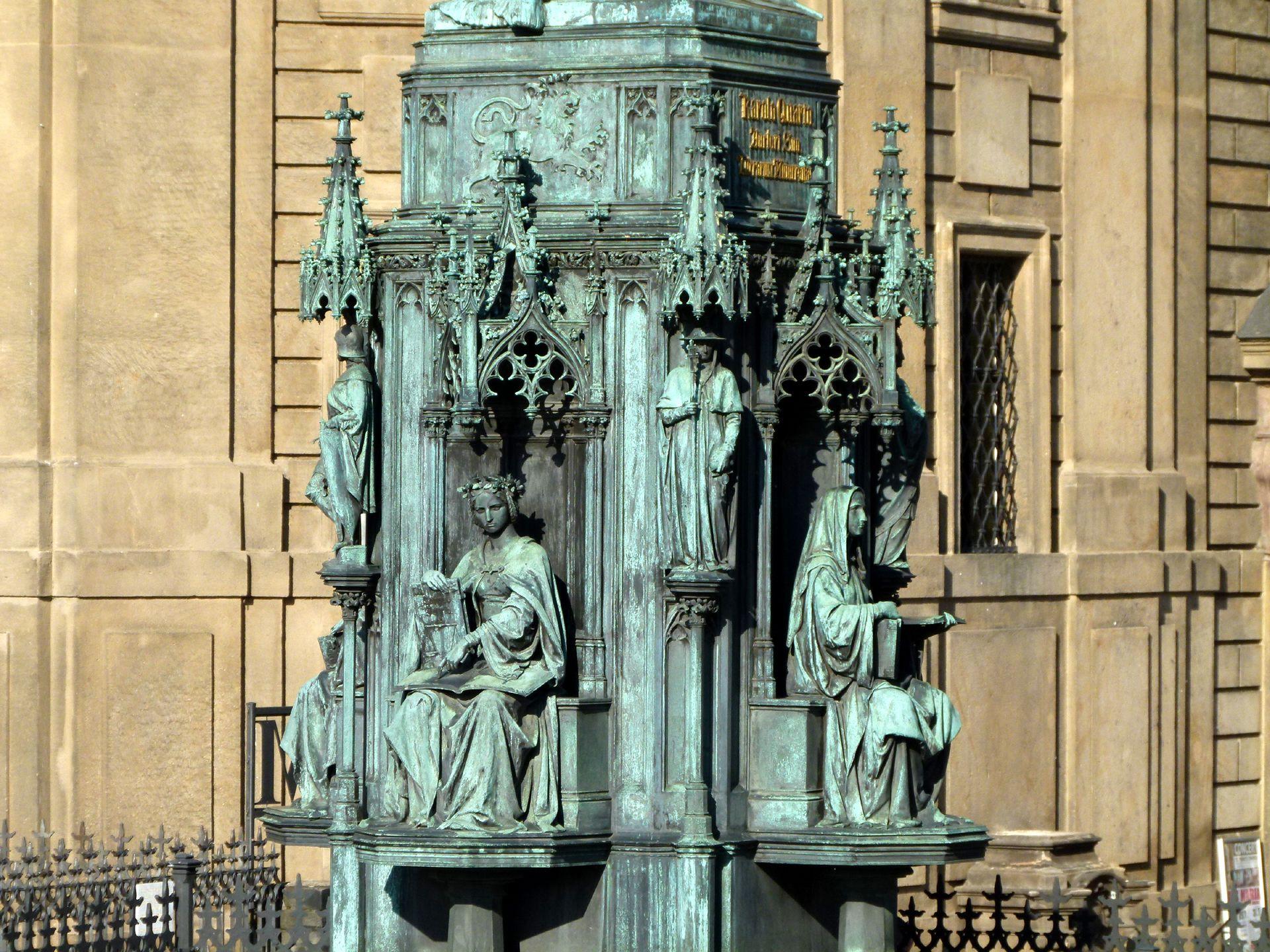 Monument of Charles IV (Prague) Pedestal