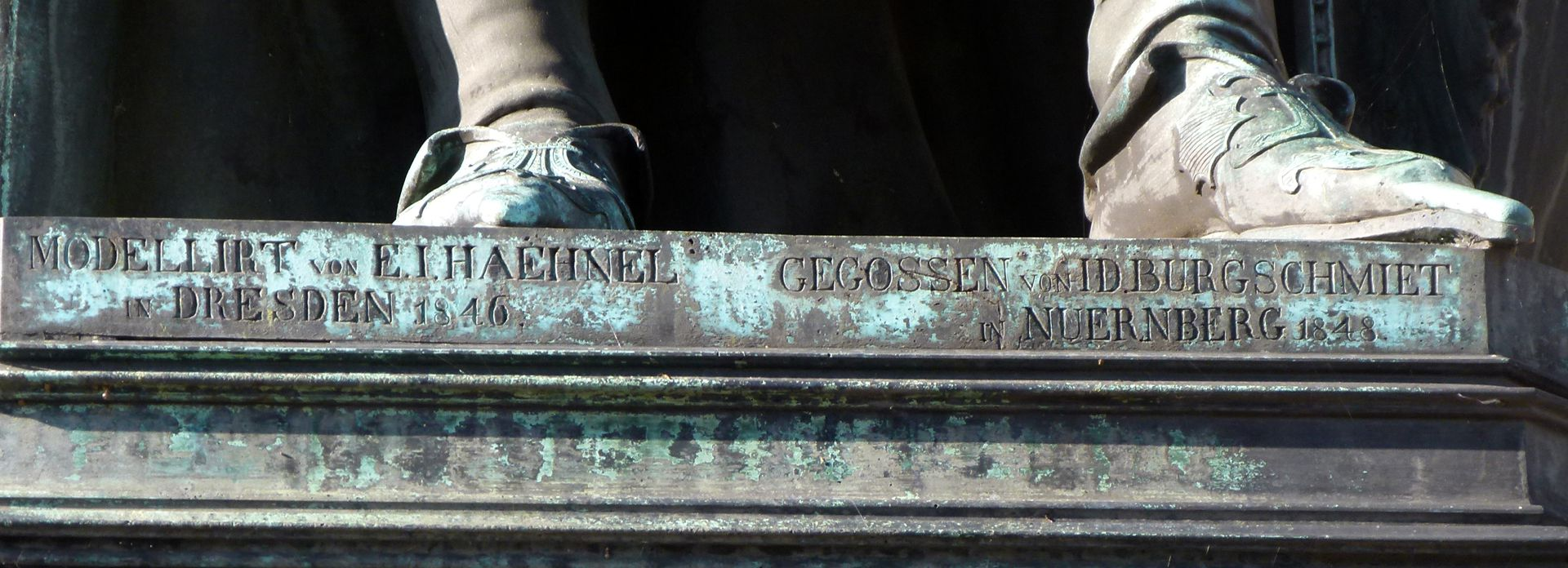Monument of Charles IV (Prague) Inscription