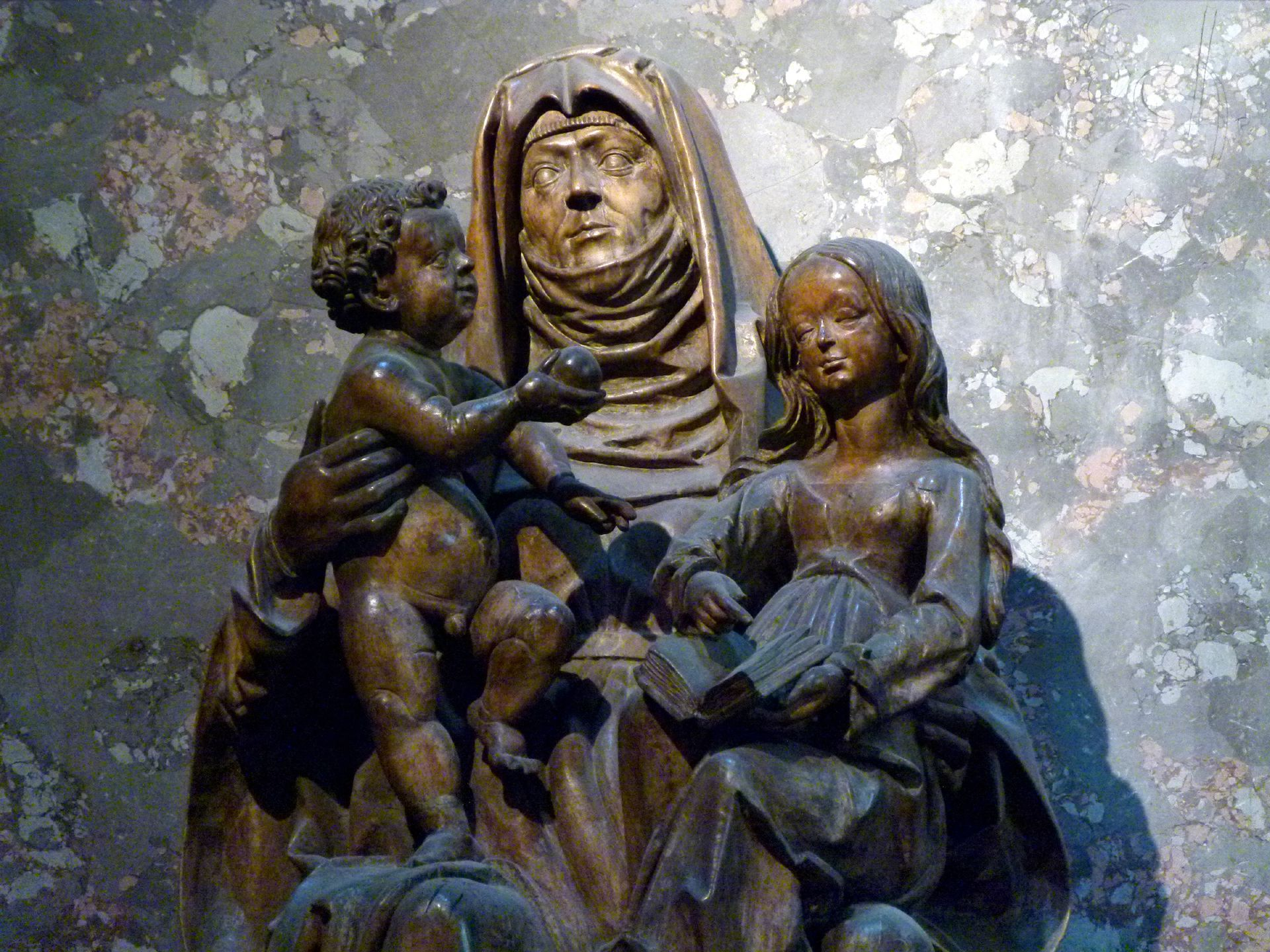 St. Anne with the Virgin and Child, Vienna Child Jesus, Anne, Mary