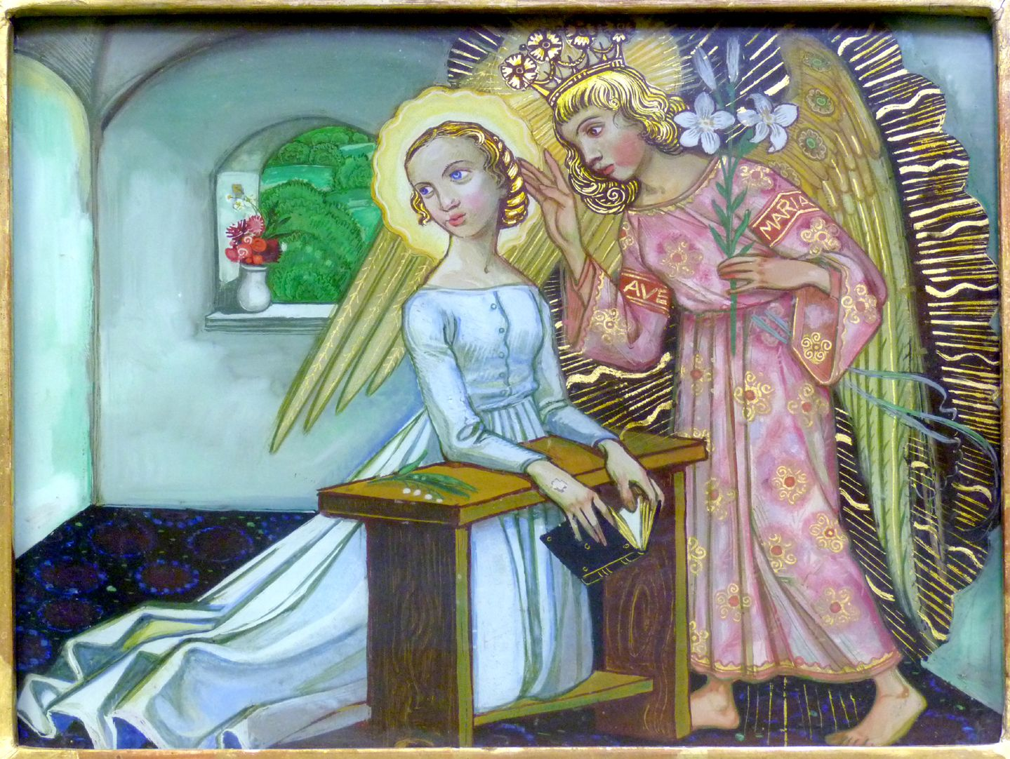"Annunciation to Mary ""Do not be afraid, Mary, you have found favour with God. You will be with child and give birth to a son, and you are to give him the name Jesus."" LK 1,30-31"