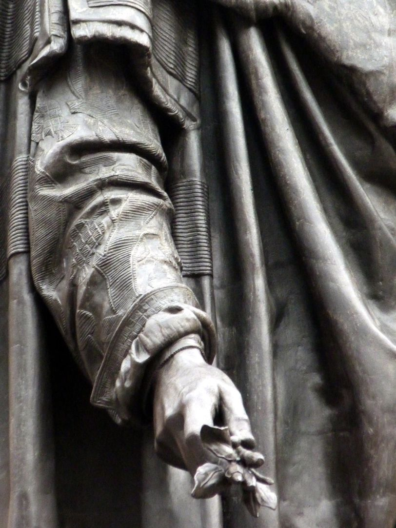Monument of Albrecht Durer Right arm with branch from a tree