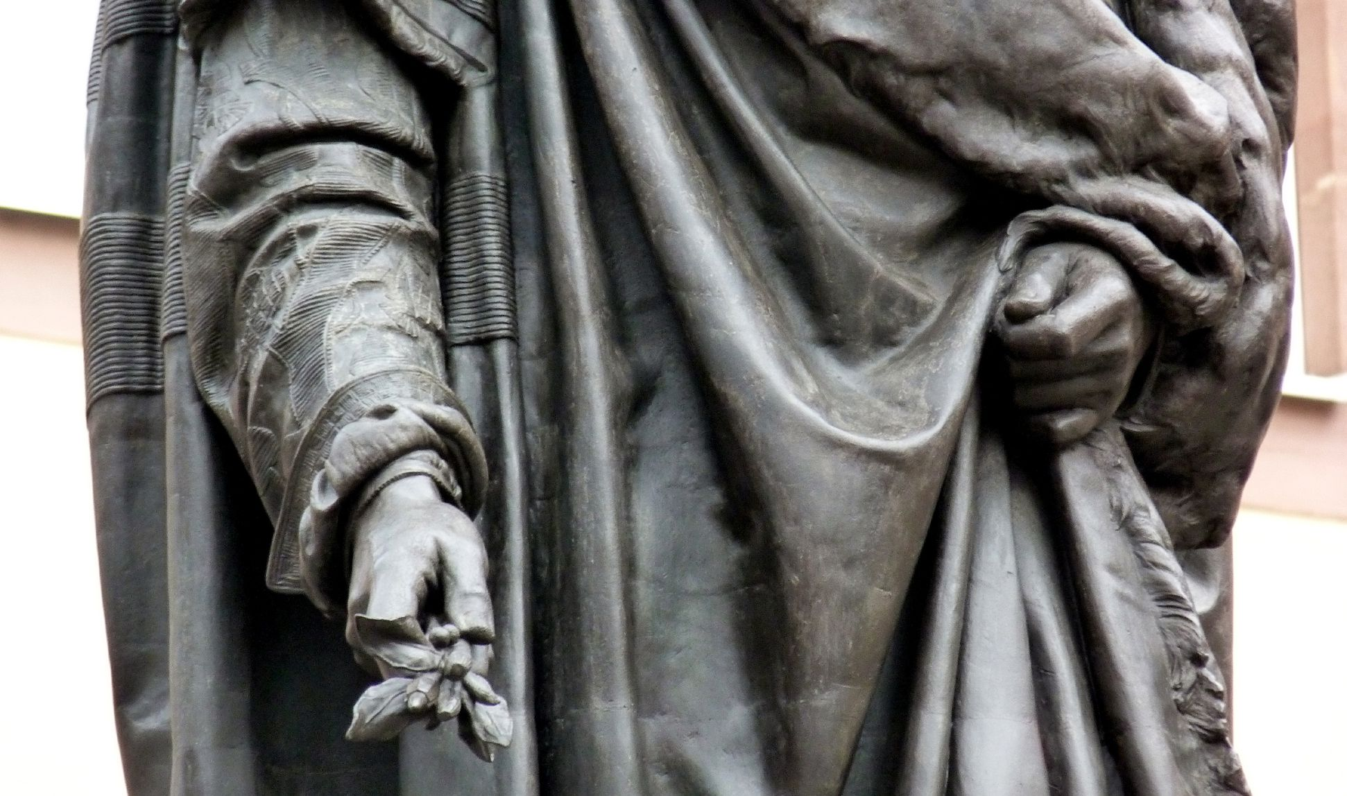 Monument of Albrecht Durer Detail with gown and hands