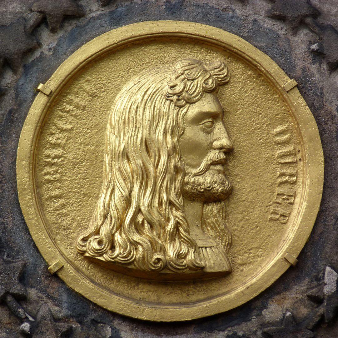 Dürer-Pirckheimer-Fountain Durer medallion