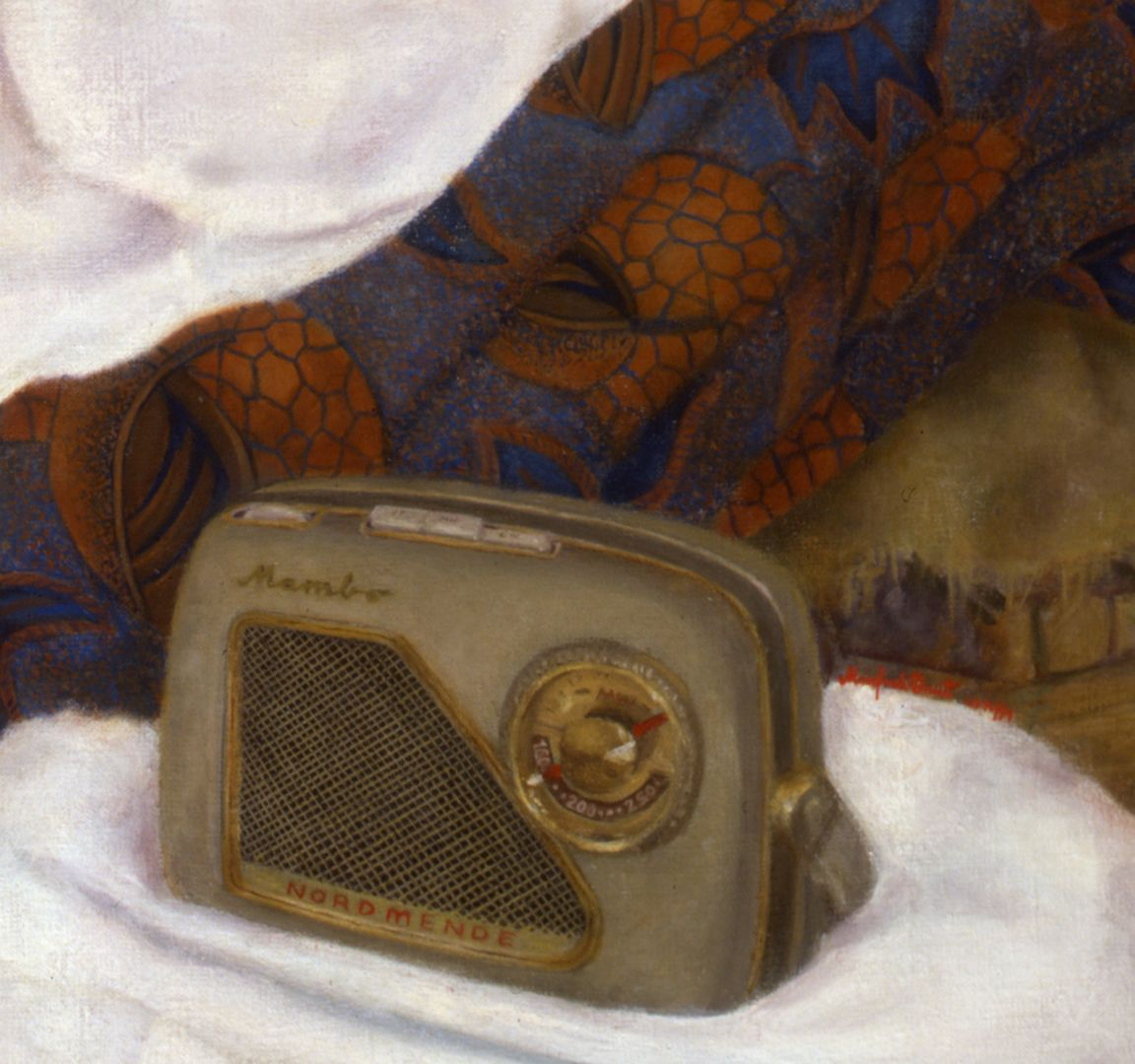 The art student H.S. Detail, radio Mambo, lower half of the picture
