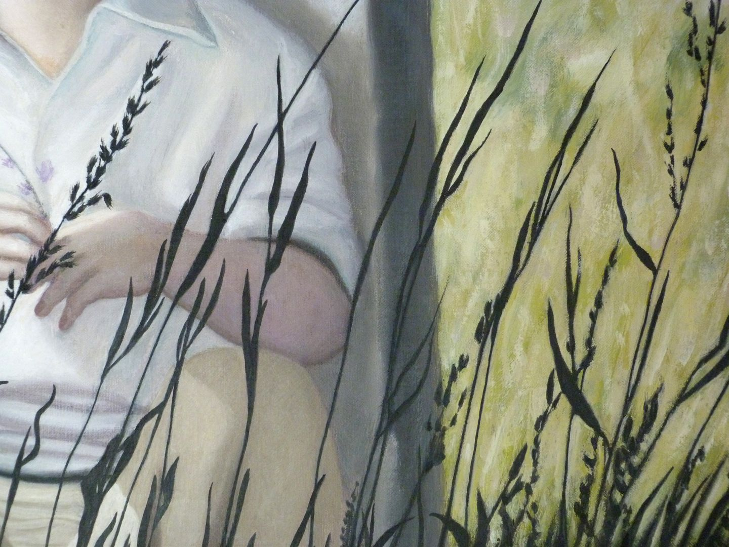 The poet Schramm Leaves of grass, detail