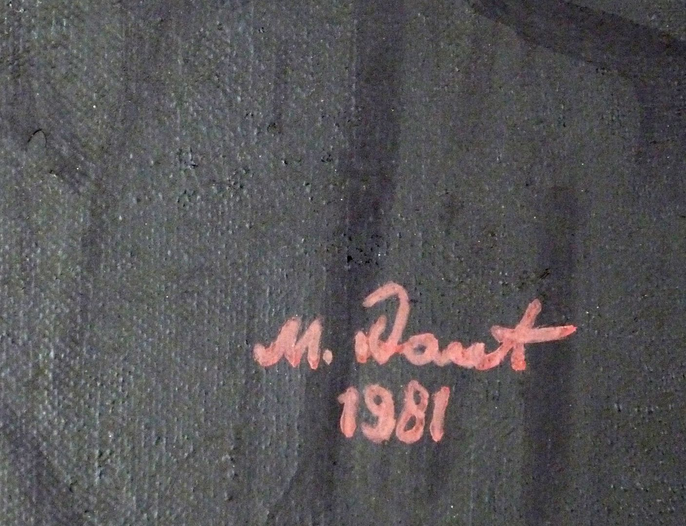 The poet Schramm Signature at the lower right edge of the picture