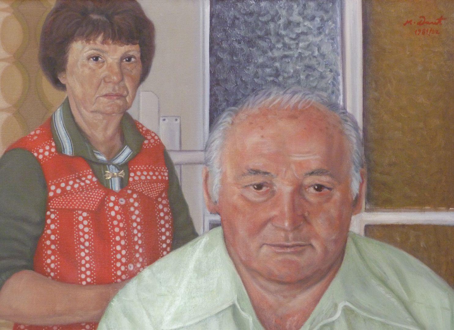 Portrait der Eltern Doppelportrait der Eltern