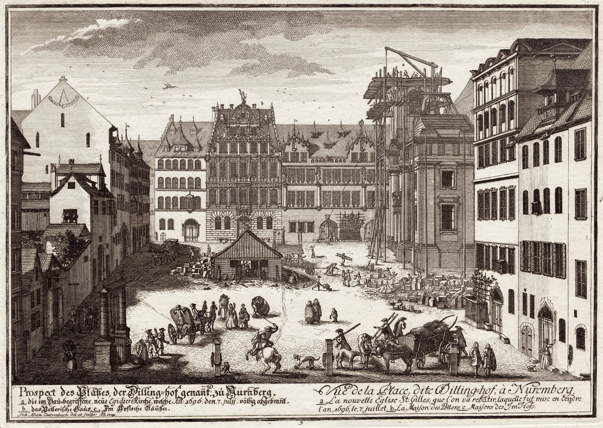Prospect of the place called Dilling´s Court in Nuremberg General view