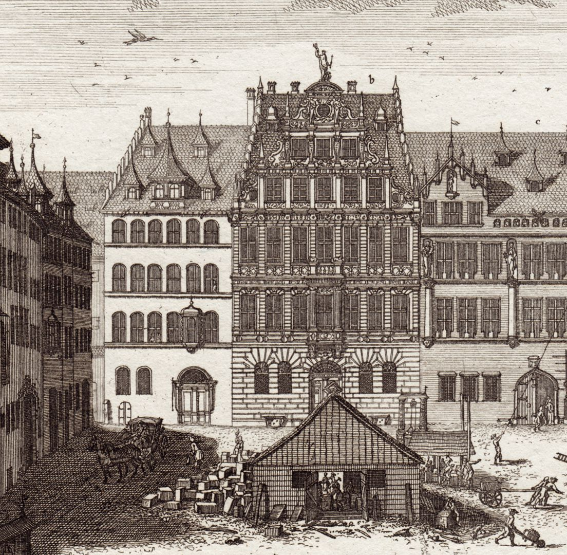 Prospect of the place called Dilling´s Court in Nuremberg Detail of the north front
