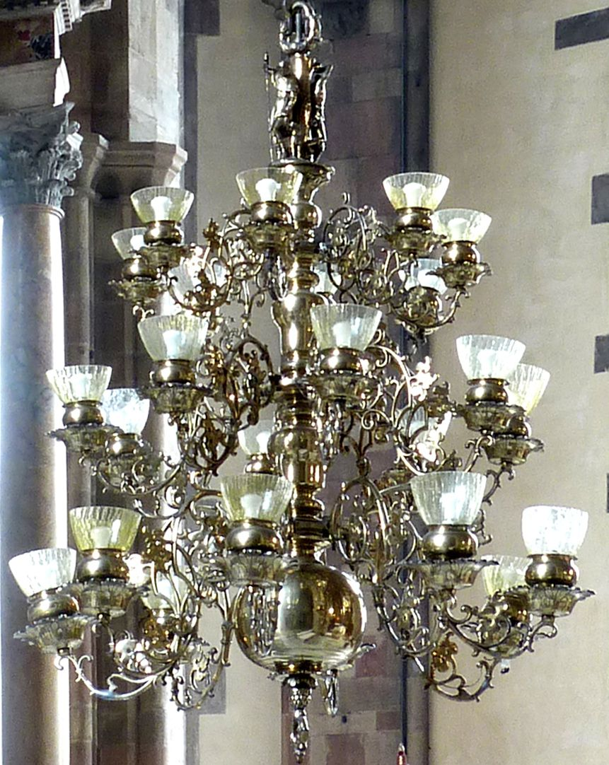 Chandelier of the Blacksmiths` Guild in Bolzano Individual chandelier