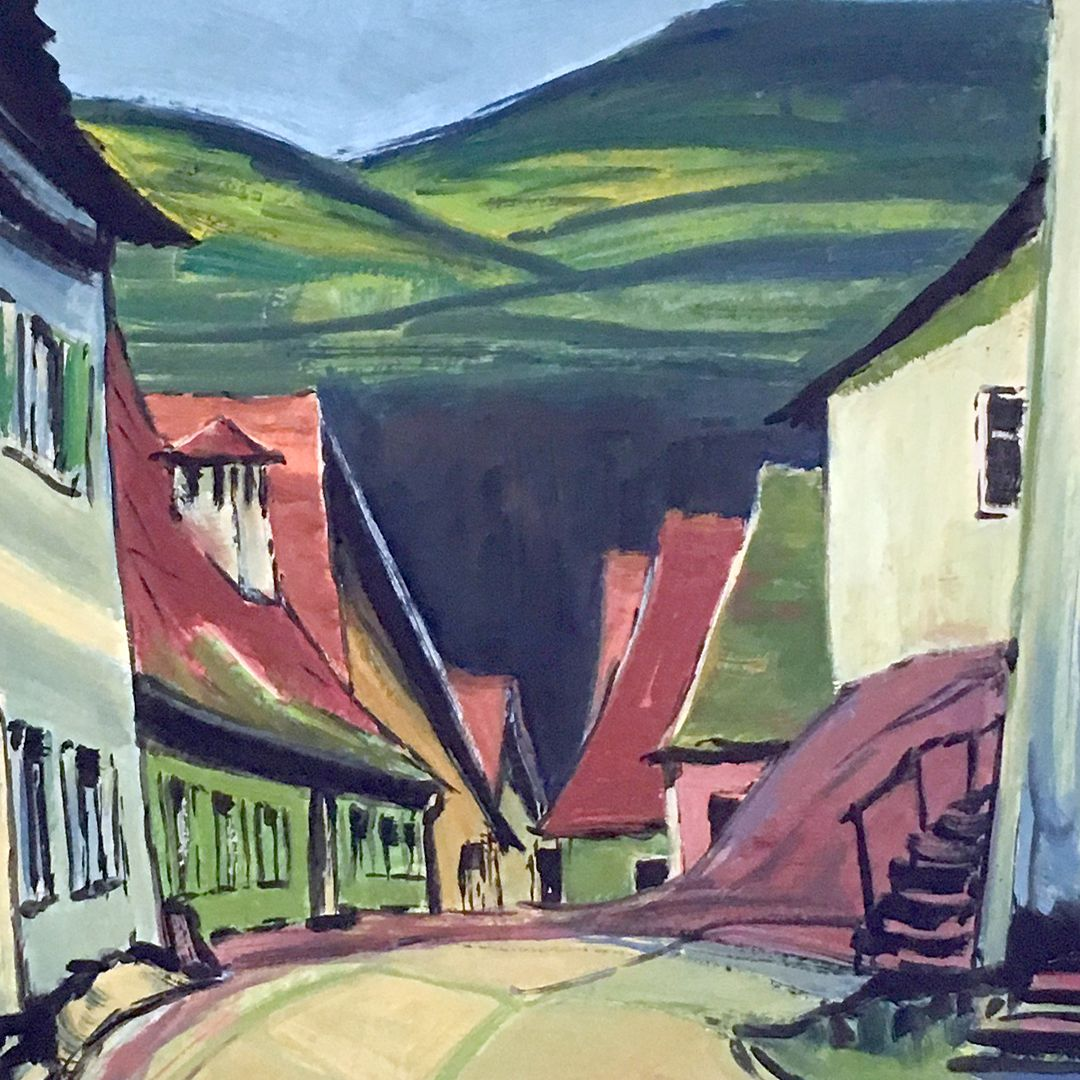 Street in a village Detail, center of the picture