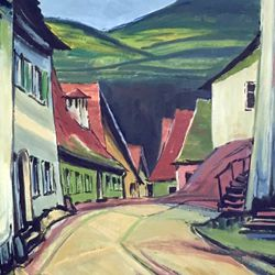 Street in a village