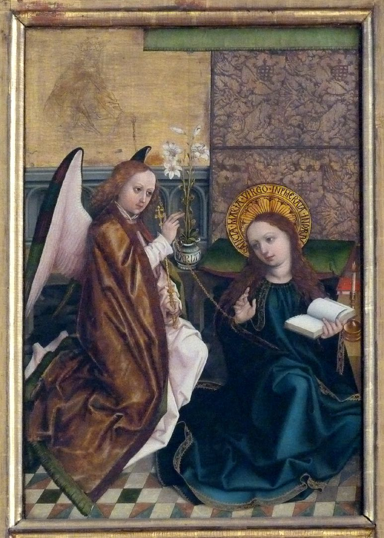 Altar of the Three Kings Left wing, top: Annunciation