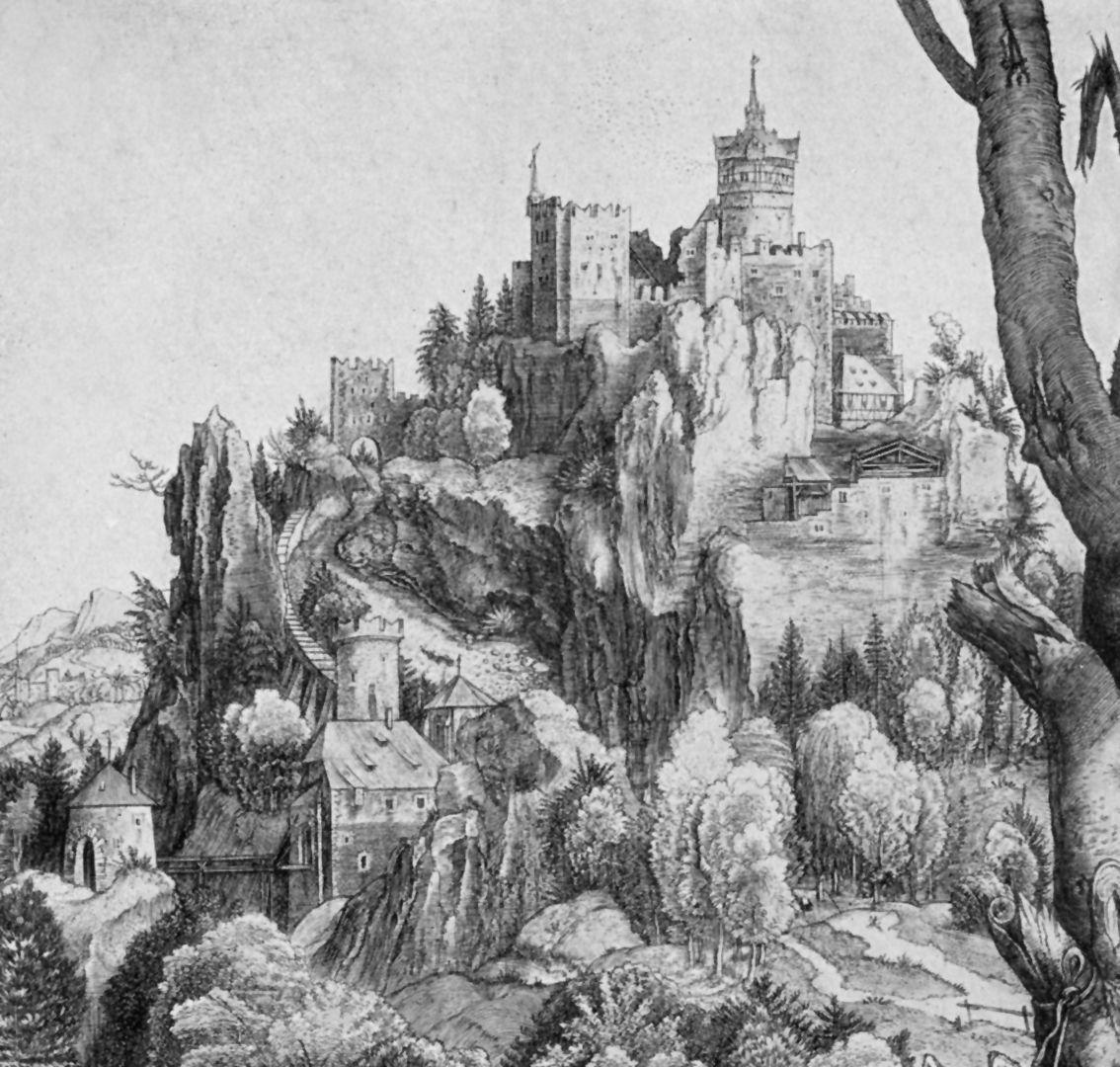 St. Eustachius Detail with castle
