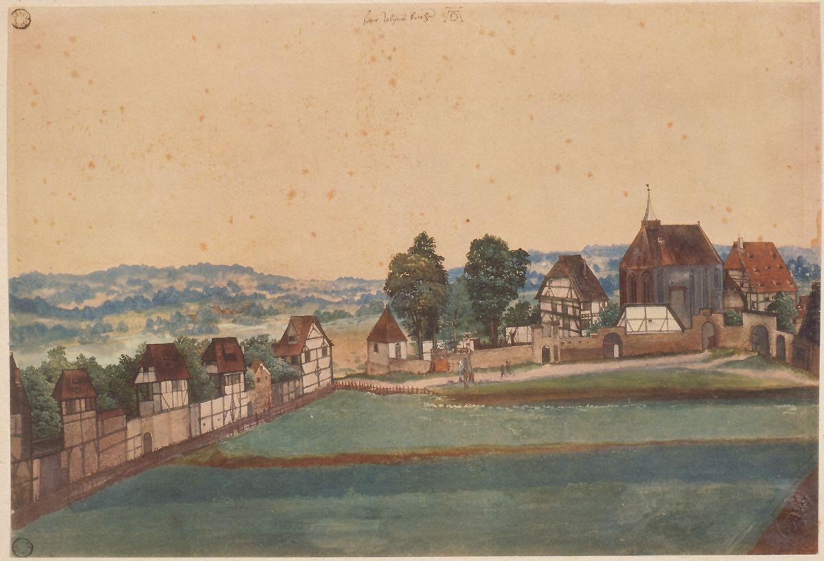 Church and churchyard of St. John´s near Nuremberg Total sheet