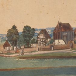 Church and churchyard of St. John´s near Nuremberg