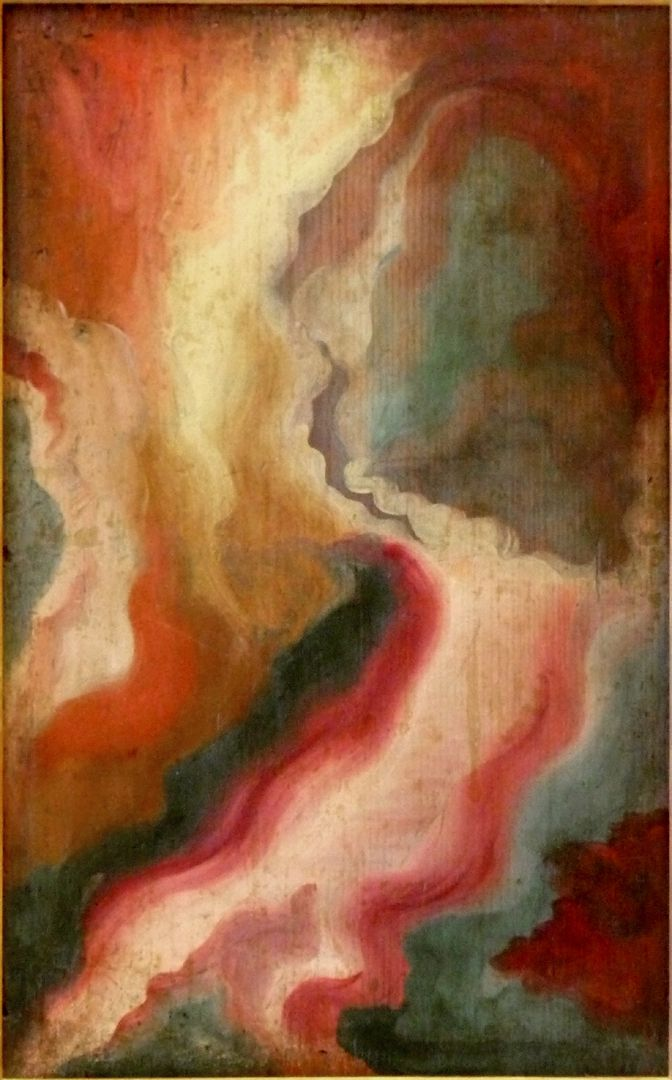 Christ as the man of sorrows Back appearing as an abstract painting