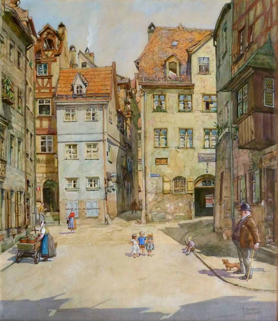 Street scene in Nuremberg General view