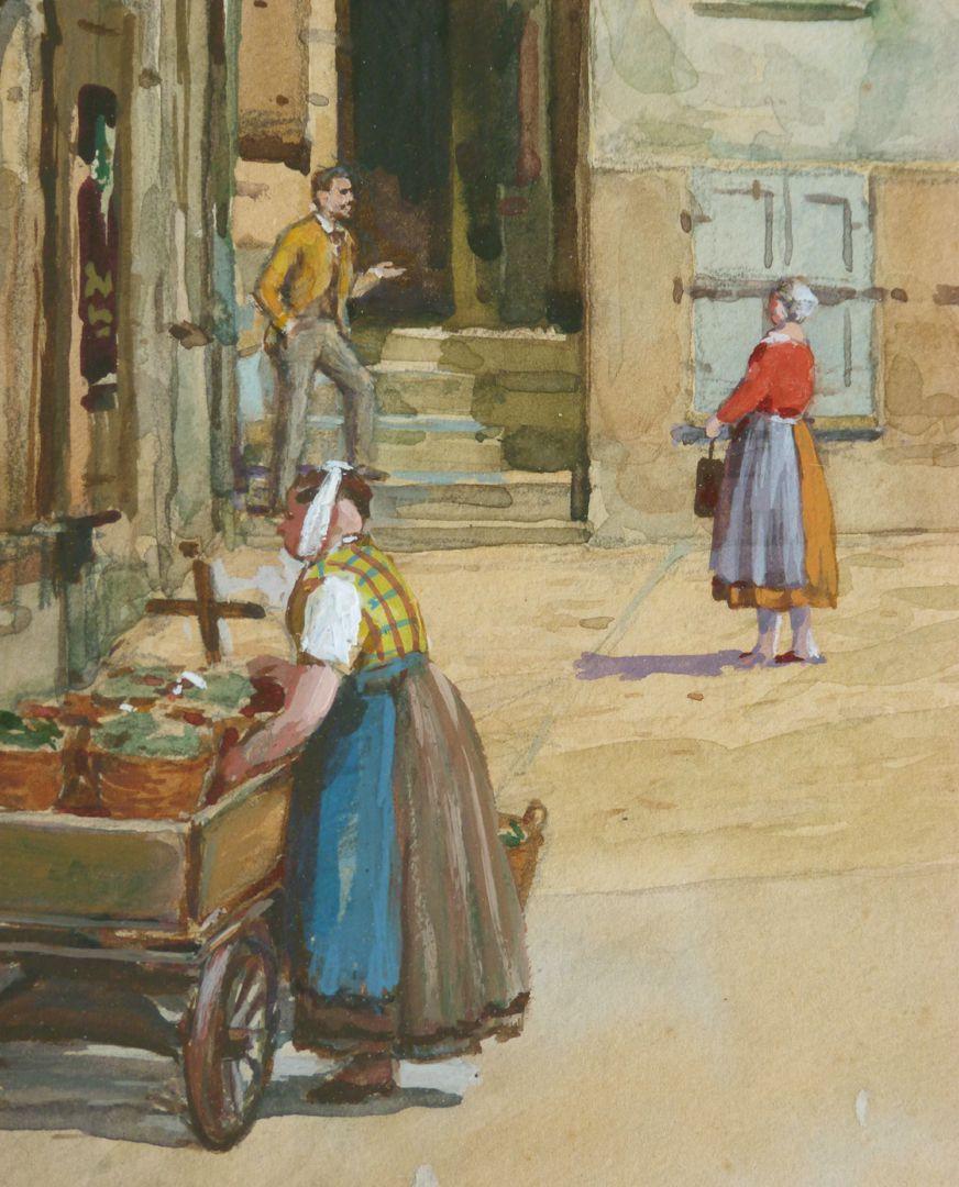 Street scene in Nuremberg Detail: market woman