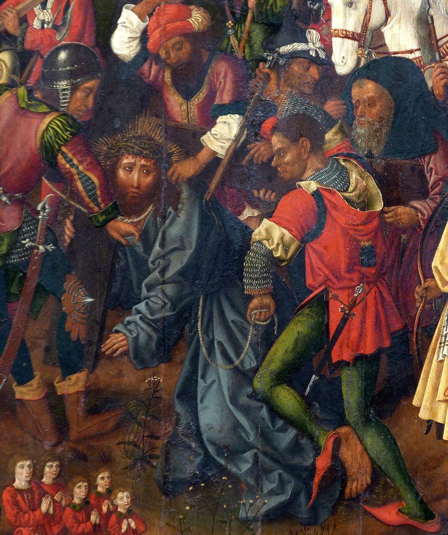 Epitaph für Barbara Tucher Der gepeinigte, kreuztragende Christus
