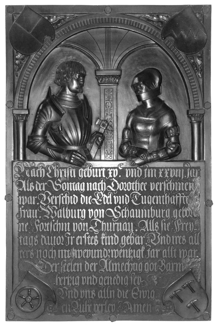 Epitaph of Walburga of Schaumberg and her consort, Sebastian Total view