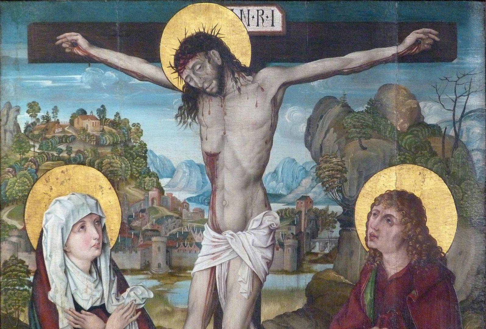 Kreuzigung Christi obere Bildhälfte