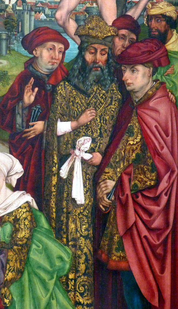 Epitaph for Georg Keyper Group of men, in the centre Joseph of Arimathia, on his right Nicodemus