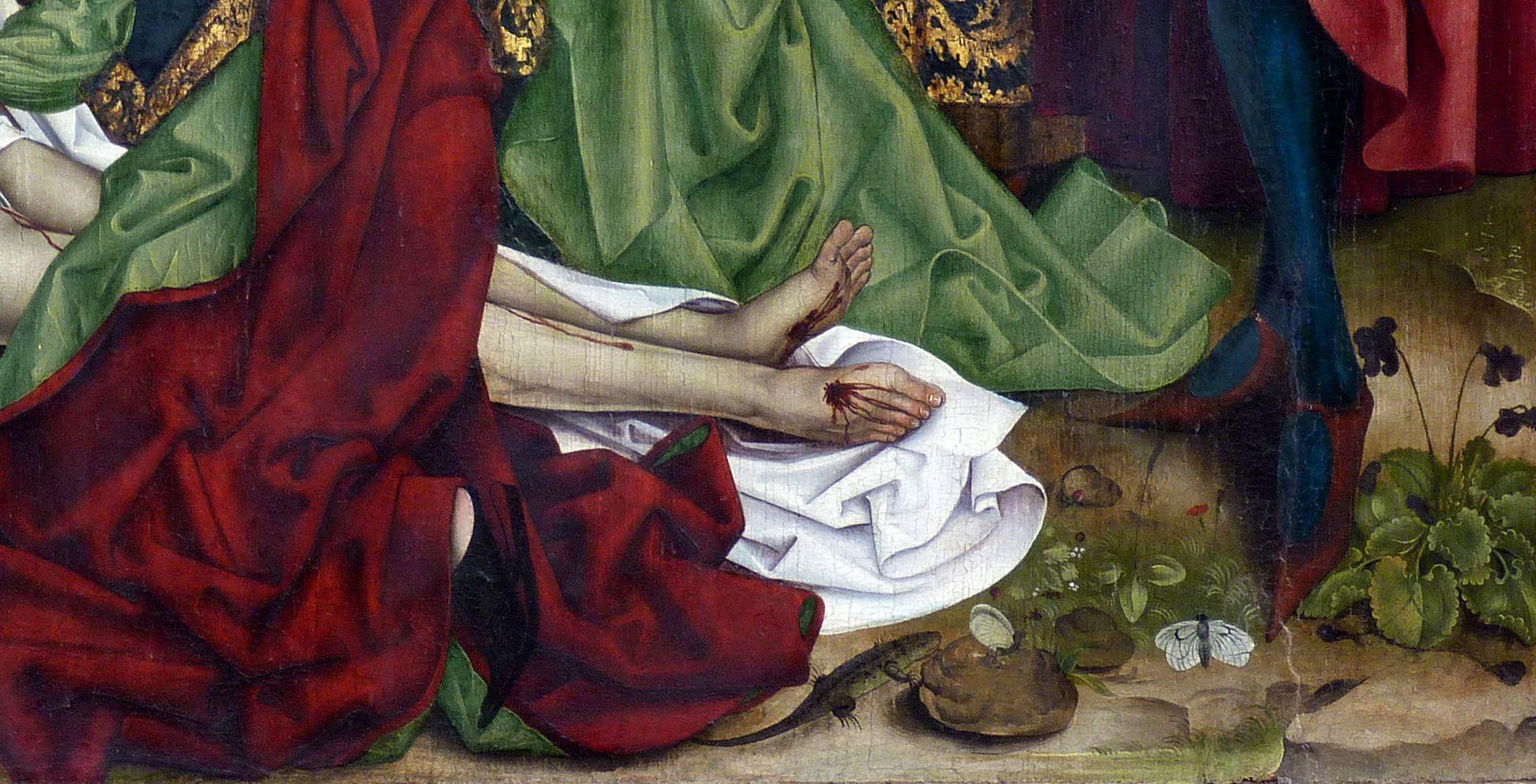 Epitaph for Georg Keyper Christ´s feet