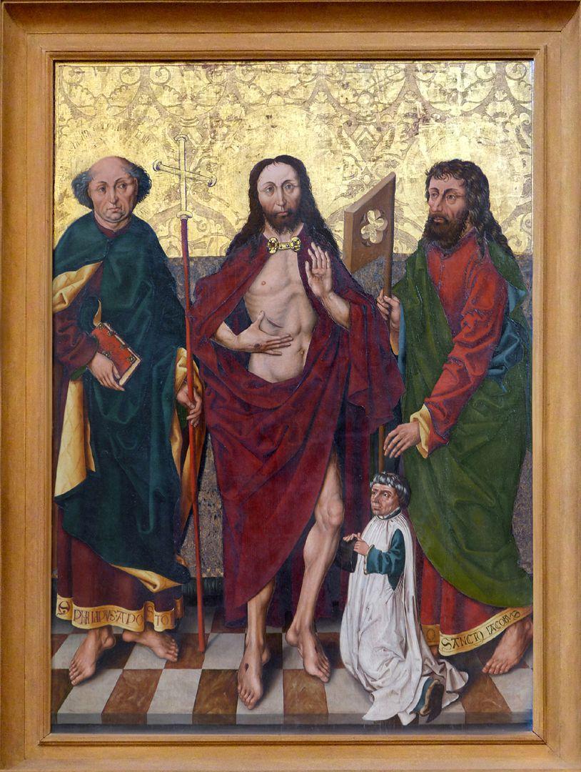Schmerzensmann zwischen den Heiligen Philippus und Jakobus Minor