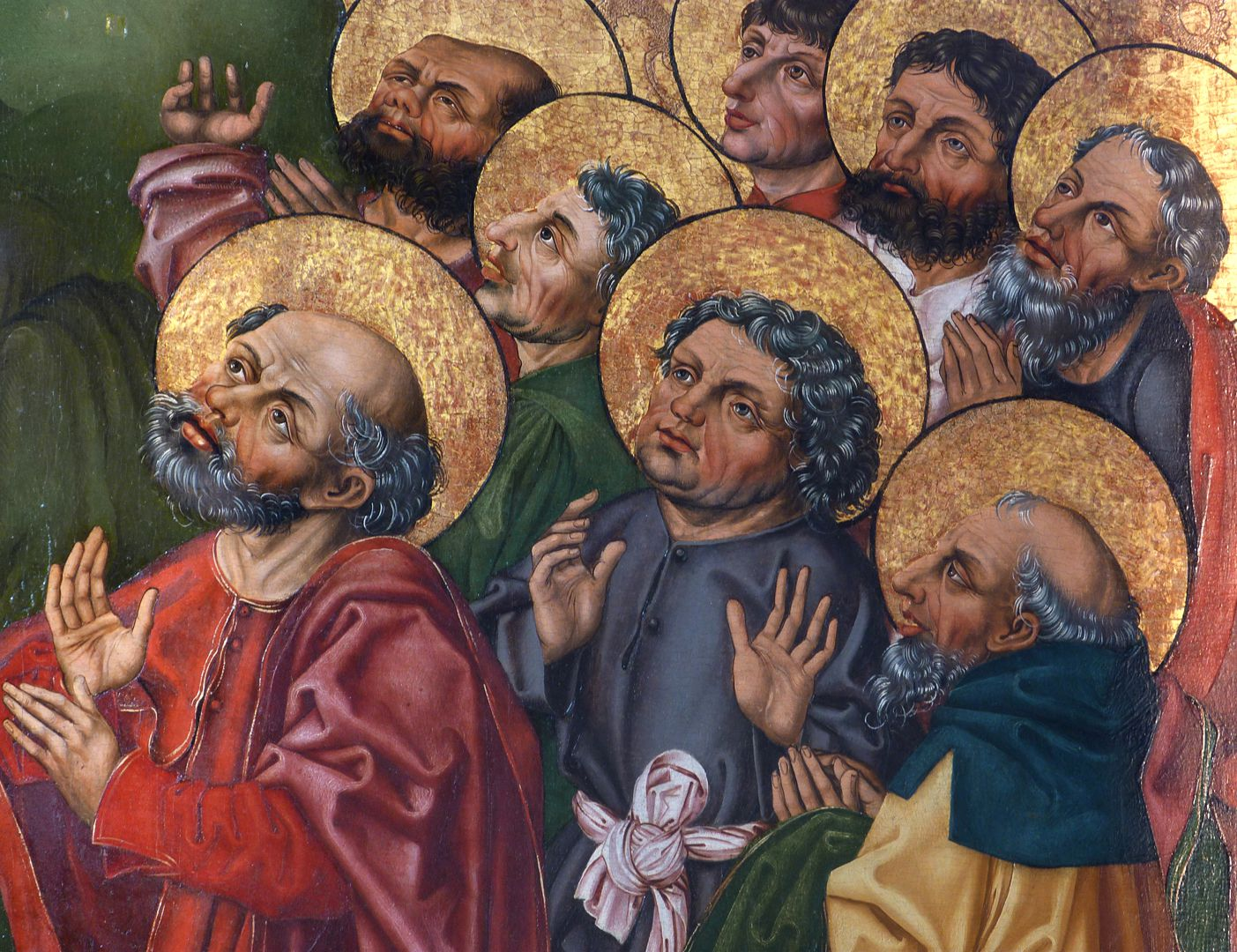 Himmelfahrt Christi Detail mit Apostelköpfen