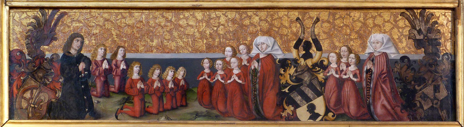 Himmelfahrt Christi unteres Bild mit der Stifterfamilie