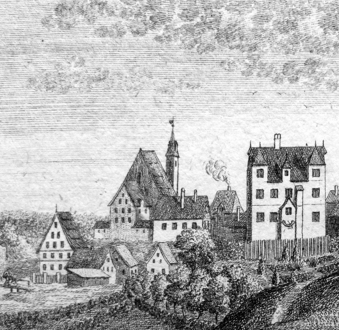 Prospect of Moegeldorf Church and Palace