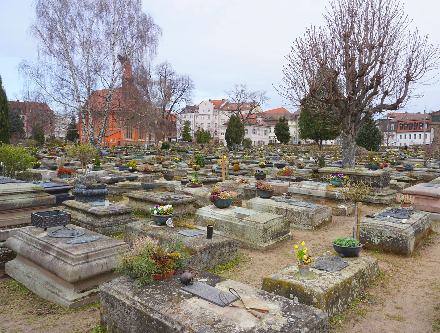Johannisfriedhof Grabstätte I A 66B Lage im Gräberfeld