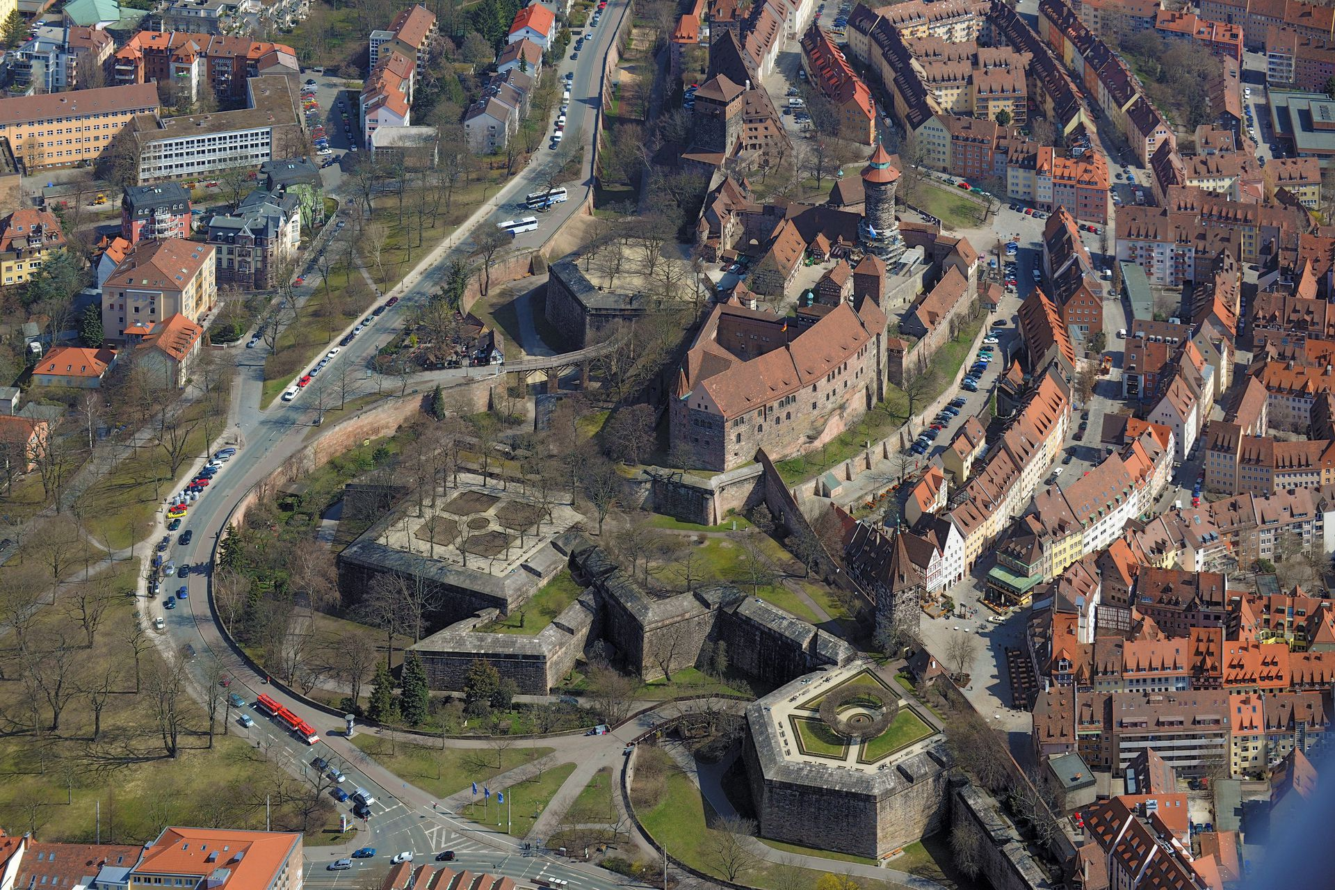 City Fortification Photo in spring, in the foreground Tiergärtnertor bastion