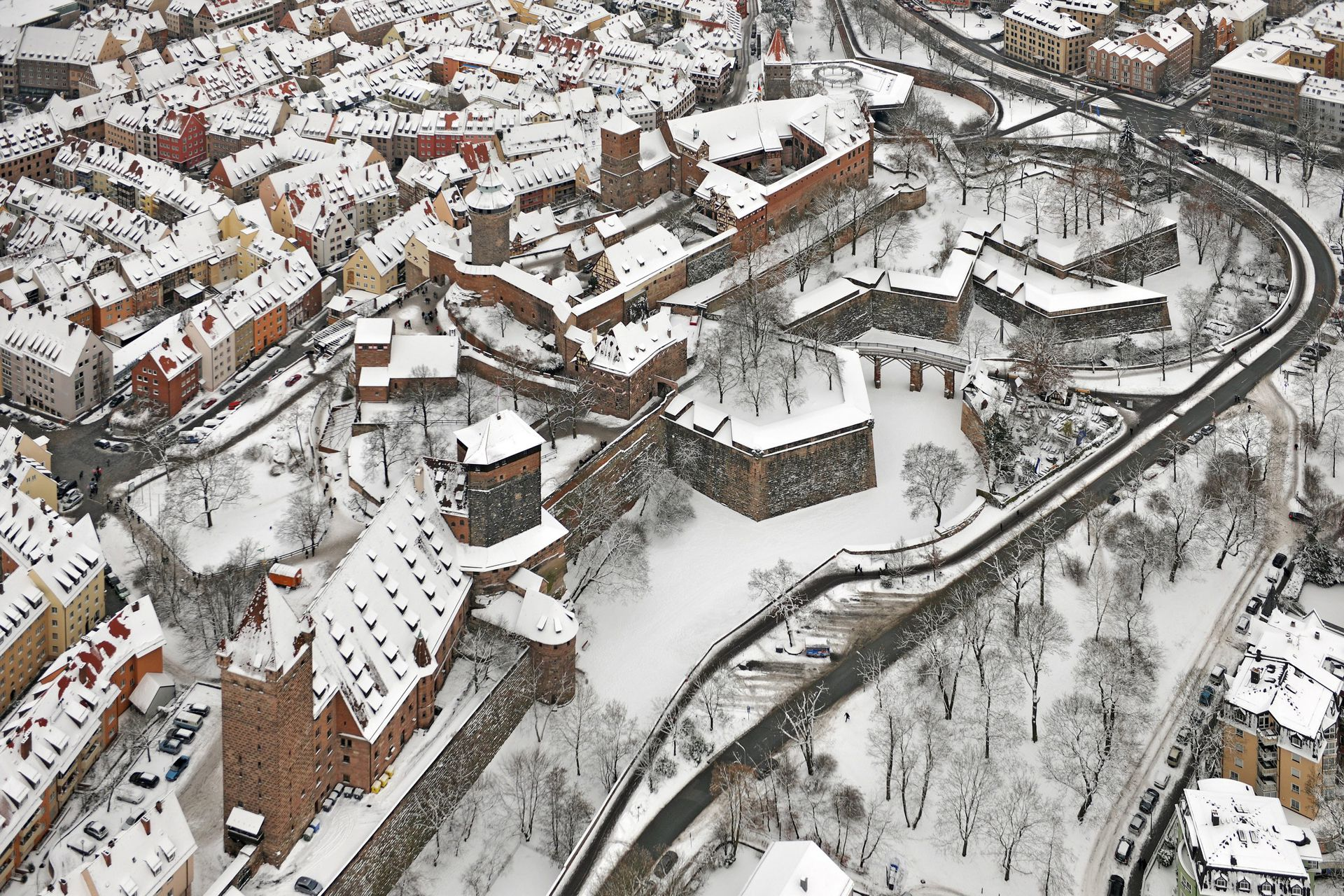 City Fortification Photo in winter, in the foreground Vestnertor bastion