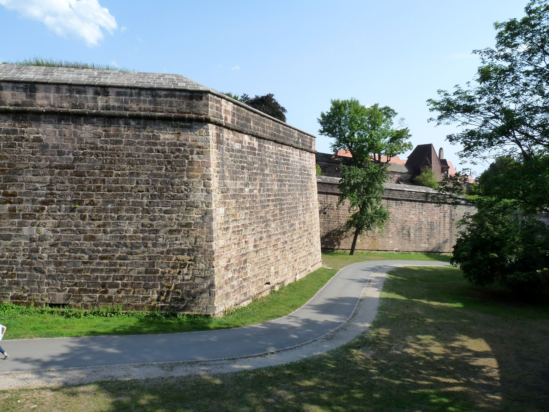 City Fortification Moat with Tiergärtnertor bastion