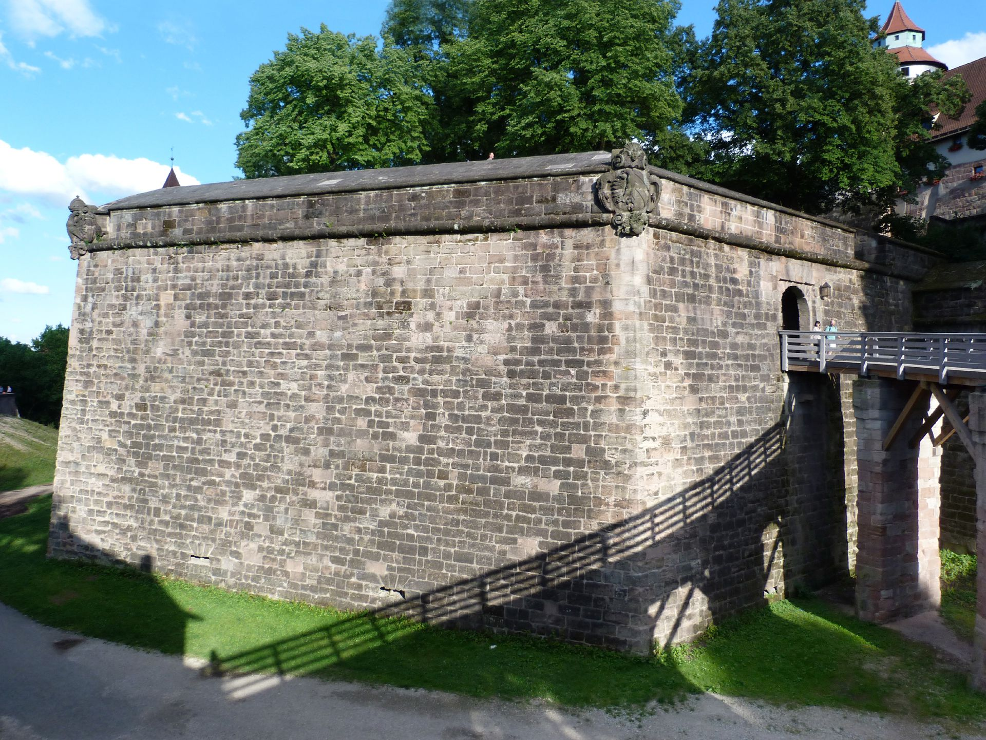 City Fortification Moat with Tiergärtnertor bastion and bridge