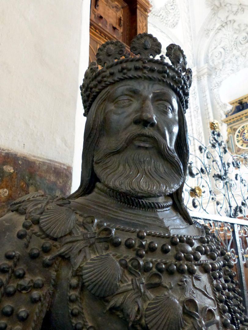 Ferdinand of Aragón (Innsbruck) Head and upper half of the statue