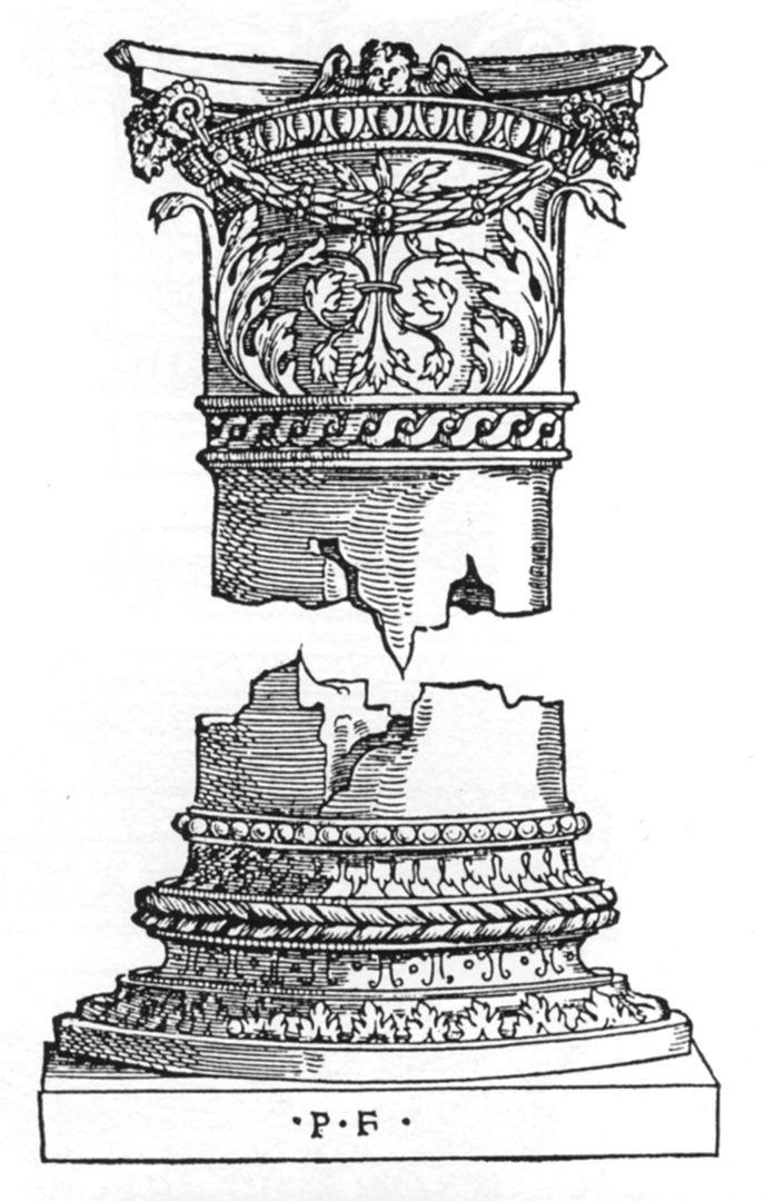 Draft for a column Säulenentwurf